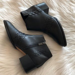 Donald J Pliner Leather Bowery Pointy Toe Bootie